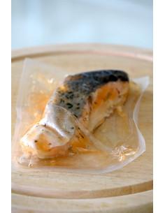 Trancio di salmone al vapore